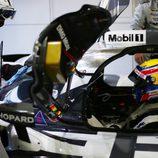 Mark Webber dentro del Porsche 919 Hybrid