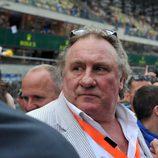 Gérard Depardieu en la salida de las 24h de Le Mans