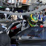 Patrick Dempsey entrando en el Porsche #77