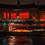 Presentación Jaguar XE - lancha