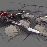 Audi TT Sportback concept - boceto interior