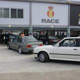 BMW saliendo a pista