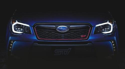 Subaru Forester STI teaser - frontal