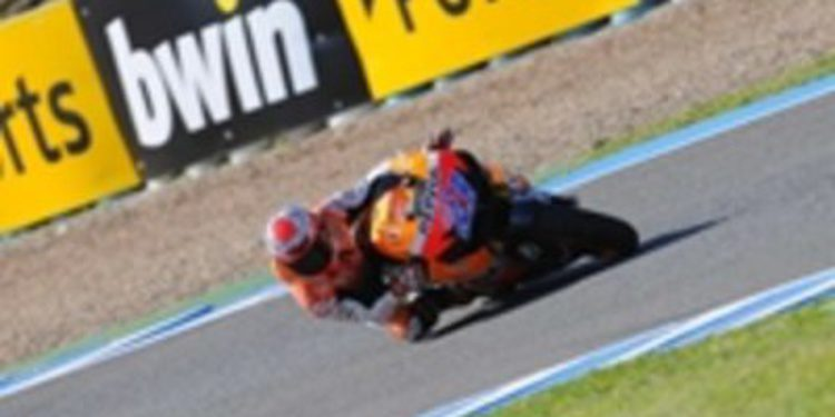 Casey Stoner logra su primera pole en el circuito de Jerez