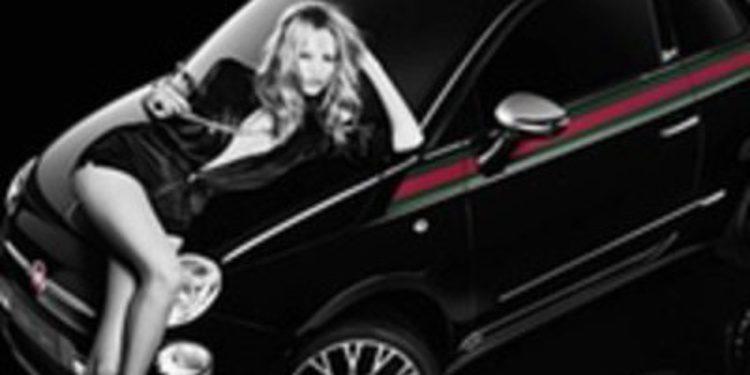 La modelo Natasha Poly se enamora del Fiat 500 by Gucci