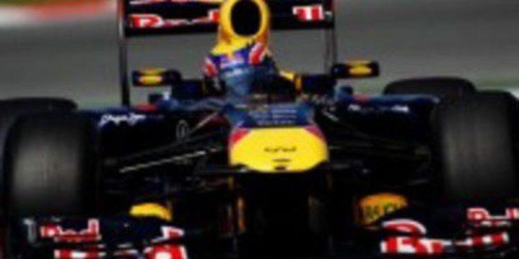 Webber, primero en los libres de Montmeló. Alonso, quinto a un segundo