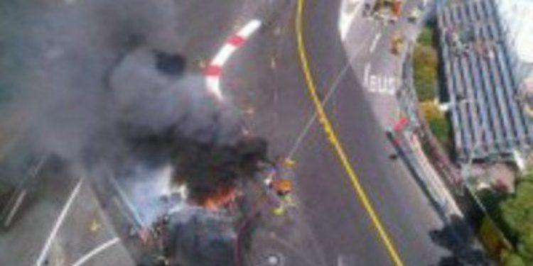Un incendio provoca el reasfaltado de la curva 1 de Mónaco