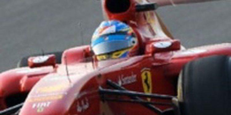 Fernando Alonso acabó tercero en el primer GP de India de F1