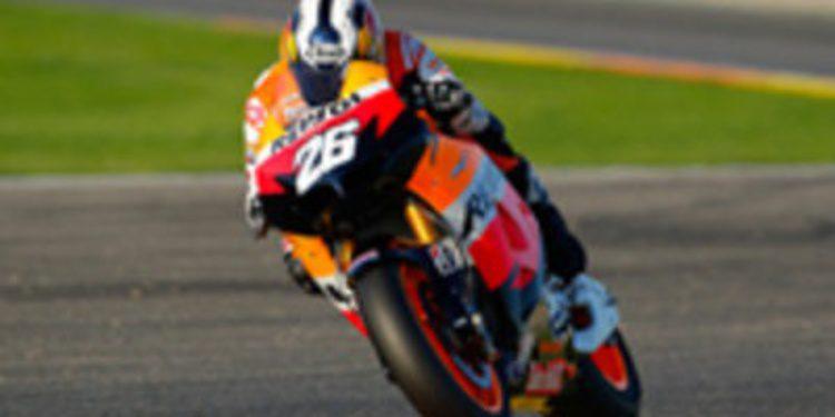 Dani Pedrosa marca el mejor crono en Valencia