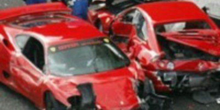 Ocho Ferrari chocan en Japón, ¿el siniestro más caro de la historia?