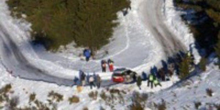 Lluvia y fina nieve en el Rally de Montecarlo