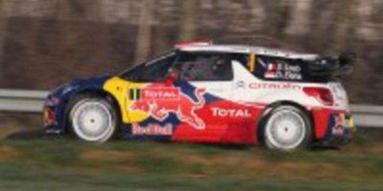 Sebastien Loeb domina en los primeros tramos de la jornada