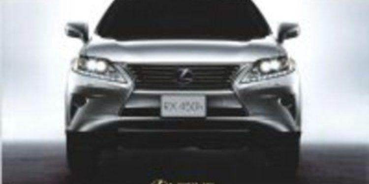 Filtradas las fotos del restyling del Lexus RX 2012