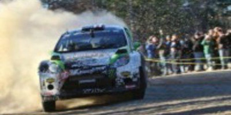 Ken Block gana en el Rally 100 Acre Wood