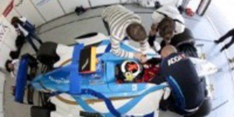 Jorge Lorenzo prueba un GP2 de Addax en Cheste