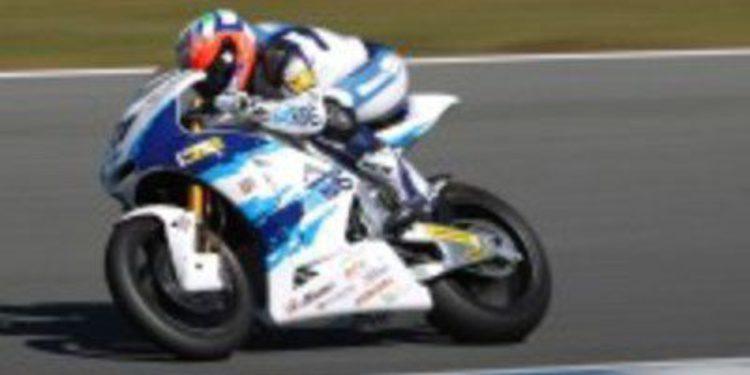 Claudio Corti cierra los test de Moto2 con el mejor crono