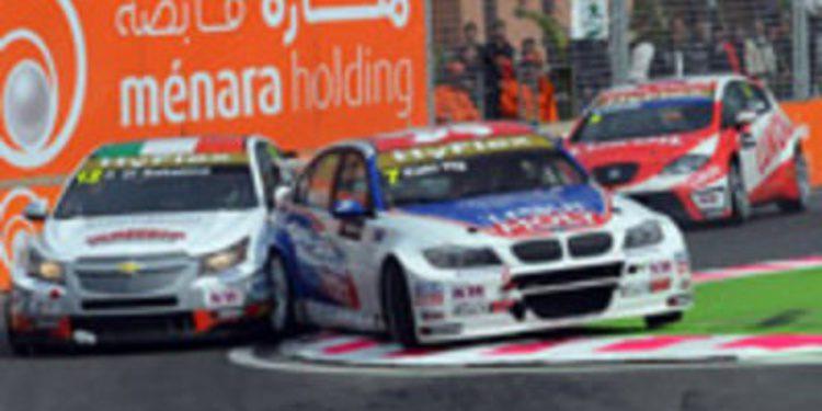 Alain Menu domina con autoridad la primera carrera en Marrakech