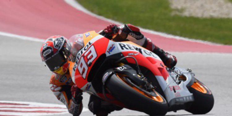Marc Márquez da miedo desde los FP1 de MotoGP en Austin