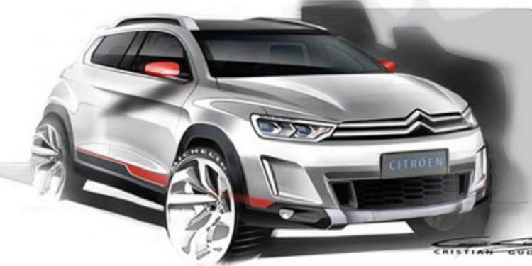 Se filtra un misterioso boceto de un crossover de Citroën