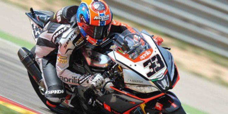 Marco Melandri rige el WSBK en el FP3 de MotorLand