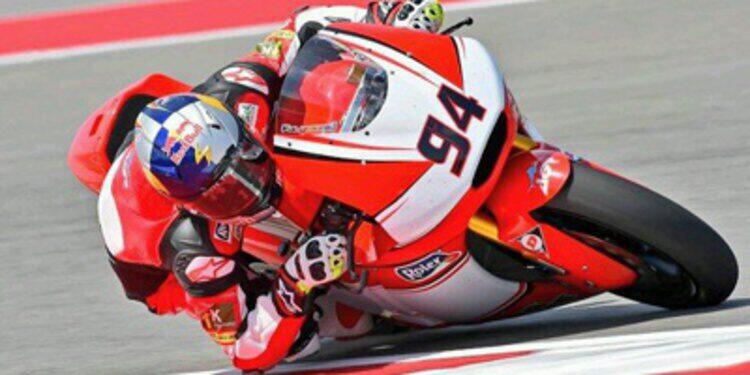 Jonas Folger domina el warm up de Moto2 con caída