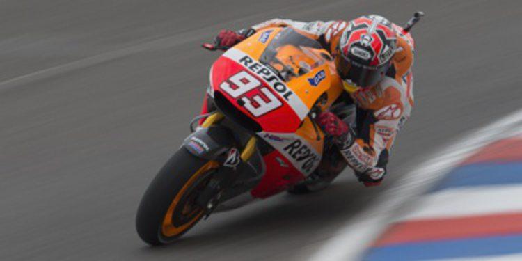 Márquez muy 'duro' hasta la Q2 de MotoGP en Termas