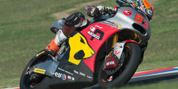 Tito Rabat se gusta en el warm up de Moto2 en Termas