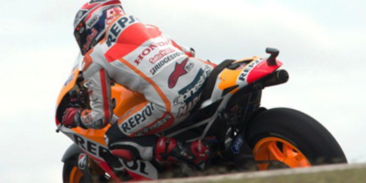 Márquez marca ritmo en el warm up MotoGP en Termas