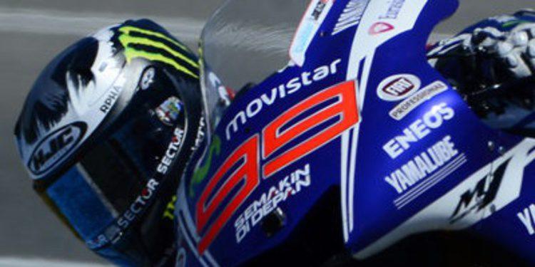 Jorge Lorenzo al mando del warm up de MotoGP en Jerez