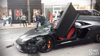 Dos Lamborghini Aventador accidentados en dos meses