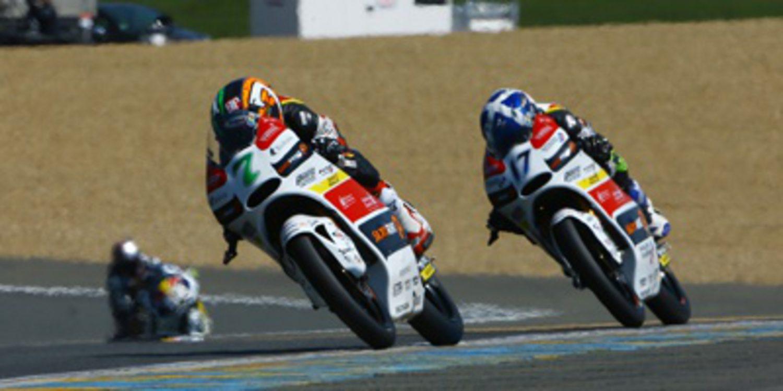 Efrén Vázquez se lleva el warm up de Moto3 en Francia