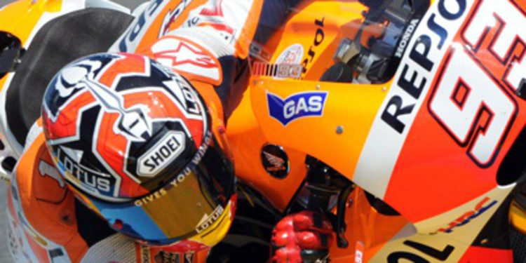 Ritmo para Marc Márquez en el warm up de Le Mans