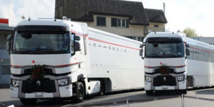 Sauber F1 Team renueva su flota de camiones de Renault