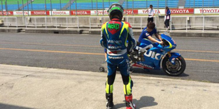 Primer test de Eugene Laverty con la Suzuki de MotoGP