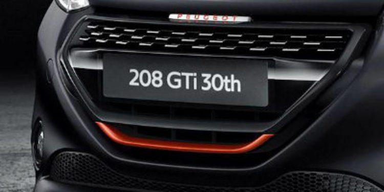Peugeot engalana al 208 con motivo del 30 aniversario de 205 GTi