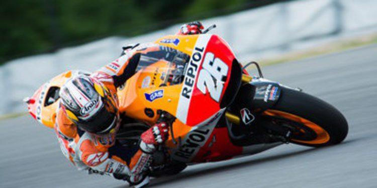 Respol Honda probó un freno trasero de pulgar en Brno