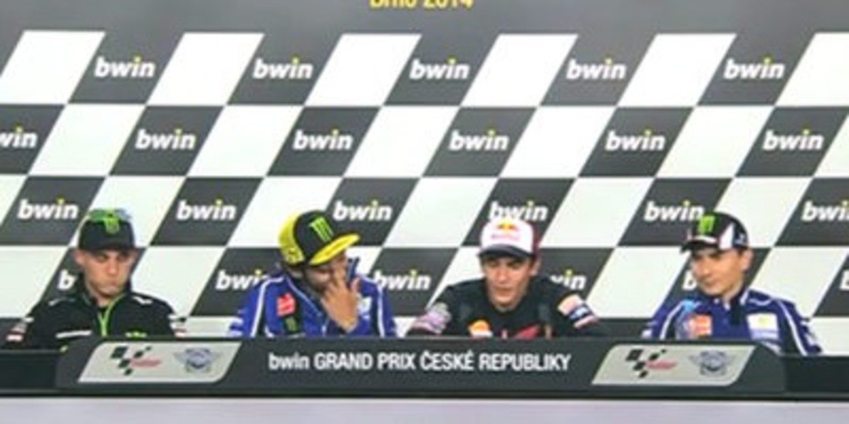 Rueda de prensa del GP de la República Checa de MotoGP 2014