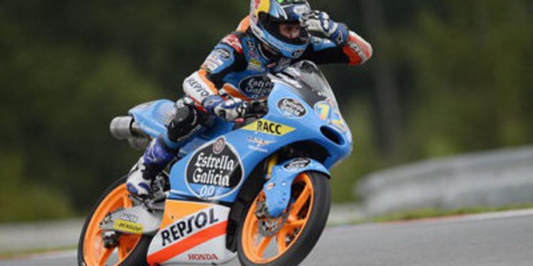 Alex Márquez con ritmo en el warm up de Moto3 en Brno