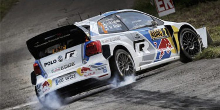 Triplete de Volkswagen en el shakedown del Rally de Alemania