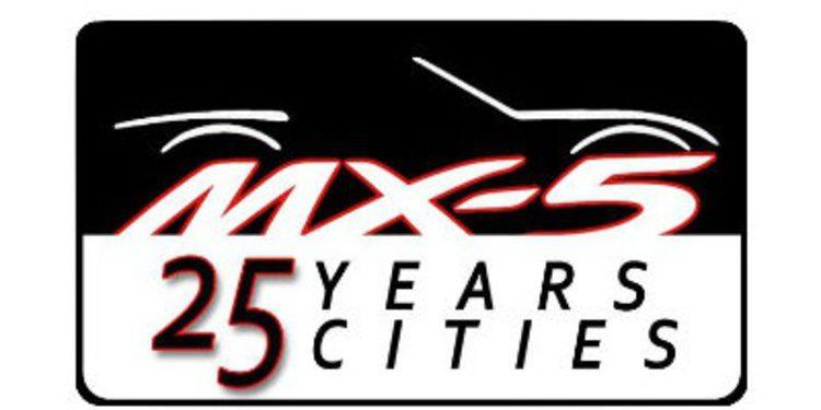 Un Mazda MX-5 recorre 25 ciudades celebrando su 25º aniversario