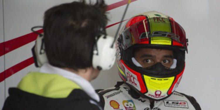 Caídas, lluvia y Hernández en el FP1 de MotoGP en Misano