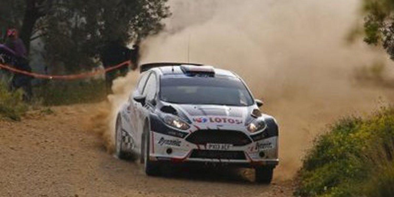 Scratch en el QS del Cyprus Rally de Kajetan Kajetanowicz
