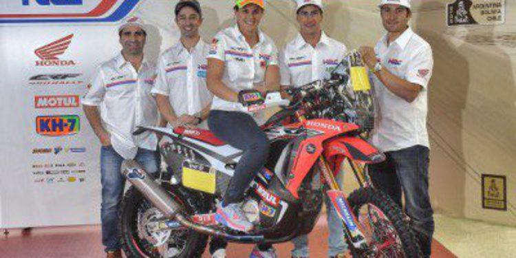 Presentación del Team HRC para el Dakar 2015