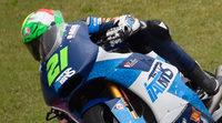 Franco Morbidelli al frente del FP1 de Moto2 en Alcañiz