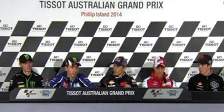 Rueda de prensa del GP de Australia de MotoGP 2014