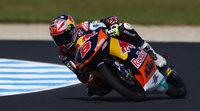 Jack Miller acaba el FP2 de Moto3 en Australia arriba