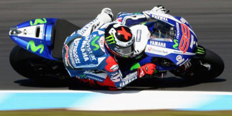 Caída y liderato del FP2 de MotoGP para Jorge Lorenzo en Phillip Island
