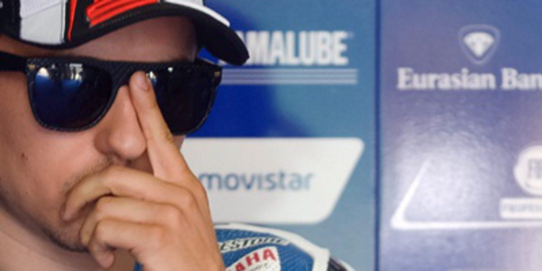 Diluvio y Jorge Lorenzo en el FP2 de MotoGP en Sepang