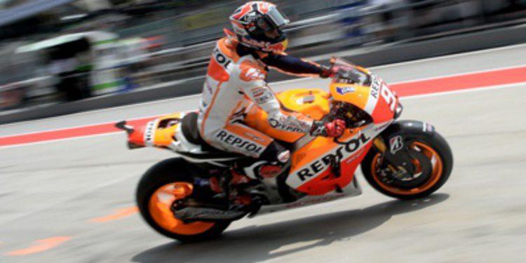 Marc Márquez domina el warm up de MotoGP en Malasia