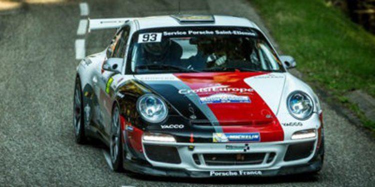 Dumas y Delecour en Córcega con los Porsche 997 RGT